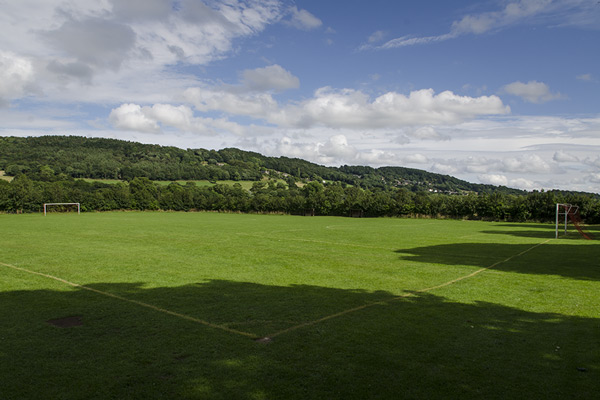 View of the recreational ground in Rowsley